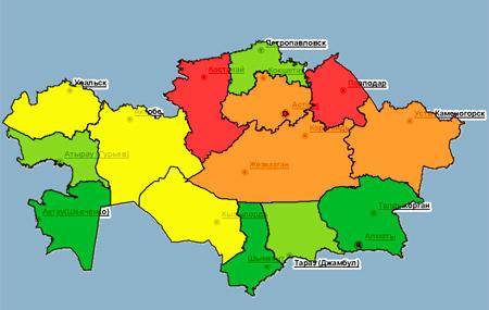 Названы самые криминальные регионы Казахстана