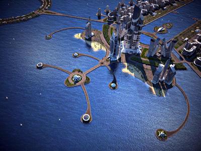 Азербайджан решил возвести на искусственном архипелаге на Каспии новое самое высокое здание в мире - Azerbaijan Tower (186 этажей)