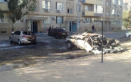 В Актау взорвался автомобиль Меrcedes