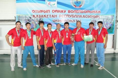 Команда Актау заняла третье место на республиканских соревнованиях по волейболу сидя
