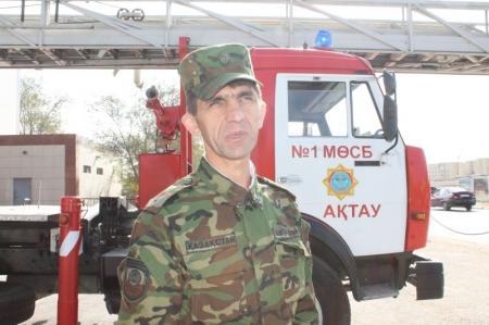 Водитель пожарной машины СПЧ-1 Актау Игорь Юрченко рассказывает о всех тонкостях своей работы