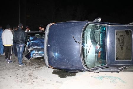 Ночная авария в Актау (ФОТО с места события)
