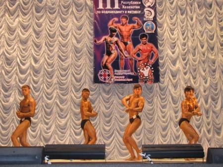 Актауские бодибилдеры завоевали три золотые медали на республиканском турнире