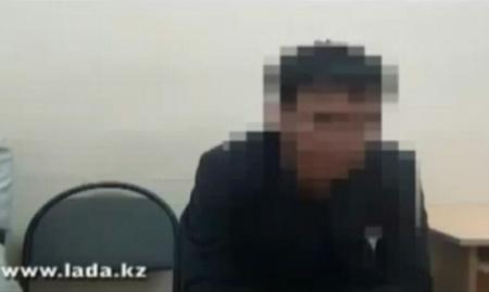 Признательные показания одного из подозреваемых в поджоге авто в Актау(ВИДЕО)