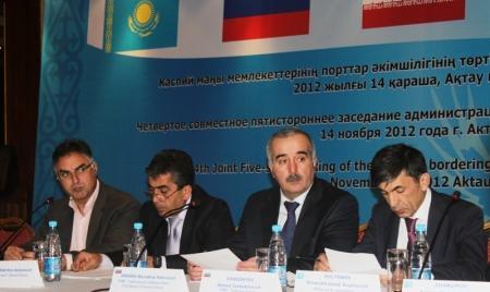 В Актау обсудили пятистороннее сотрудничество портов прикаспийских государств