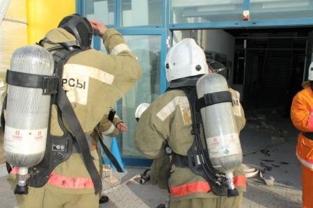 В Актау прошли пожарно-тактические учения на рынке «Магаш»