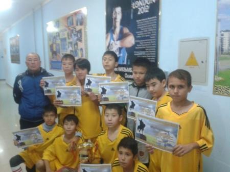 Футболисты из 20 школы Актау стали чемпионами областного турнира по мини-футболу
