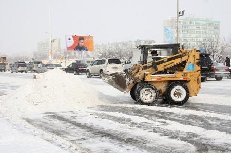 Для ликвидации ЧС на дорогах в гололед в Актау созданы запасы соли и песка
