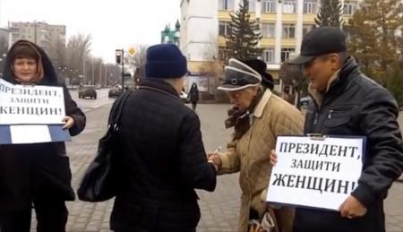 В Уральске требовали не допустить повышения пенсионного возраста для женщин  ВИДЕО