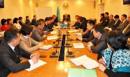 Состоялось еженедельное оперативное совещание в акимате города Актау