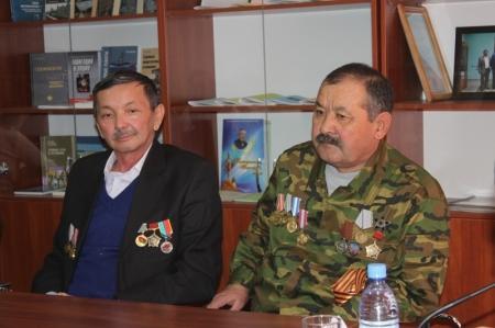 В Актау молодежь встретилась с ветеранами Афганской войны