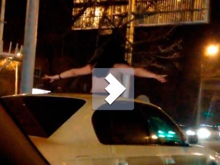 Девушка разъезжала по Алматы обнаженной