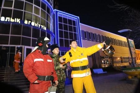 В Актау прошли пожарно-тактические учения в здании АО «Казахтелеком»