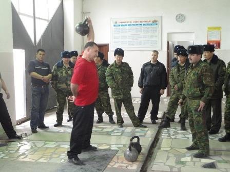 Соревнования по  гиревому спорту среди пожарных  прошли в Актау