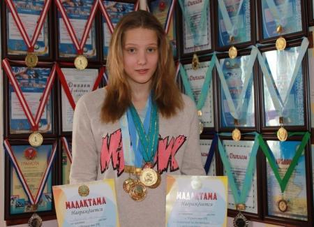 Алена Арзютова на сегодня единственный кандидат в мастера спорта по плаванию в Мангистауской области
