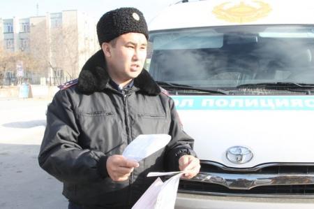 В Актау дорожная полиция проводит экологическую акцию «Эко Сакши»