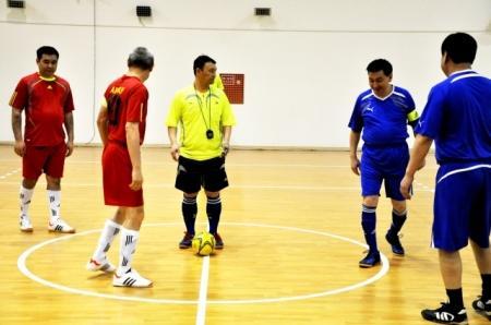 В Актау состоялся матч между командами городского и областного акиматов