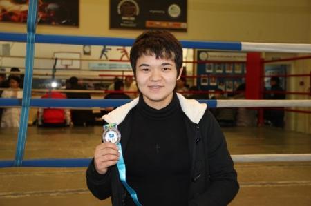 Актауская спортсменка стала серебряным призером чемпионата Казахстана по боксу
