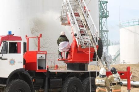 В Мангистау прошли пожарно-тактические учения на объекте нефтяной промышленности