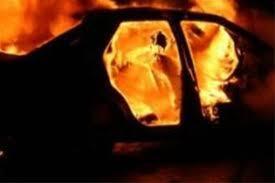На автотрассе Актау-Жанаозен во время движения загорелся «Мерседес»