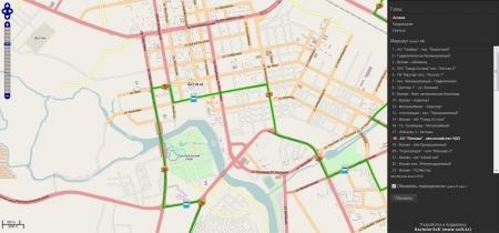 Жители Уральска могут следить за общественным транспортом в режиме онлайн