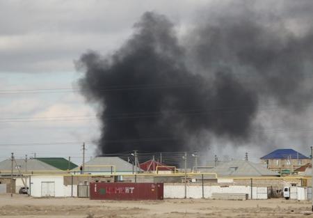 В Мунайлинском районе сгорел вагончик со строительными материалами