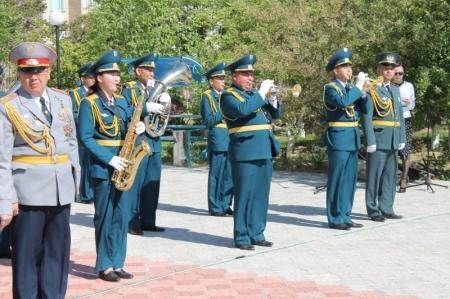 В ДВД Мангистауской области прошло торжественное мероприятие, посвященное Дню защитника Отечества и 9 Мая