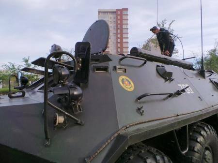 В Актау вошла боевая техника для участия в празднике 9 мая