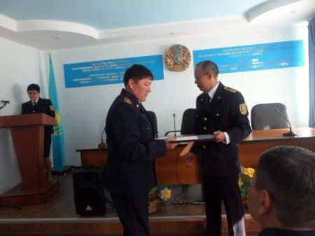 Финансовые полицейские Мангистау накануне Дня Победы получили награды