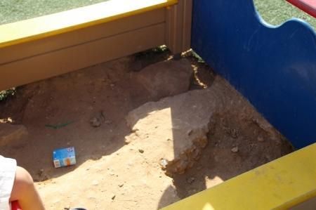 Песочница есть, а песка нет!!!
