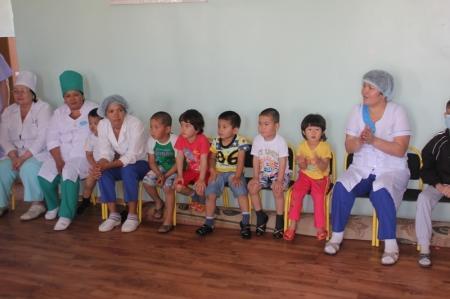 В детском противотуберкулезном диспансере прошли спортивные соревнование среди детей