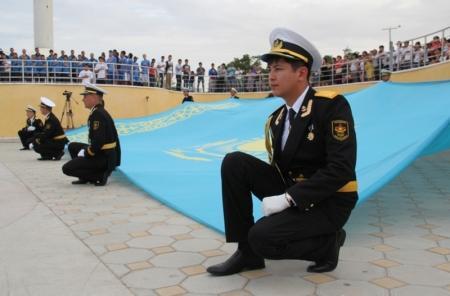 В Актау отметили День государственных символов РК