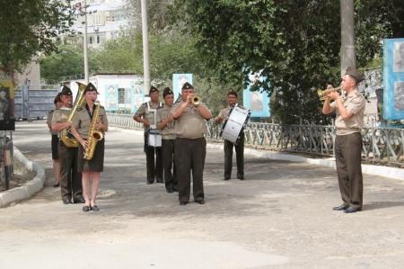 В Актау проводили в запас солдат срочной службы воинской части 6656