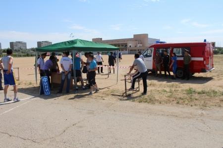 В Актау стартовала пятая региональная летняя спартакиада МЧС РК