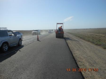 Уркен Бисакаев: Начаты работы по среднему ремонту автомобильной дороги «Актау-Каламкас»