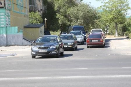 Центральную дорогу в Актау снова перекрыли