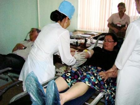 Налоговый департамент Мангистауской области отметил Всемирный день донора