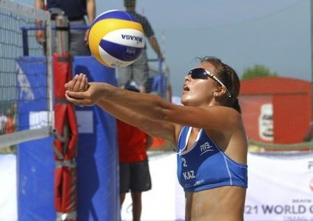 Актауские спортсменки заняли первое место по итогам третьего тура Чемпионата РК по пляжному волейболу