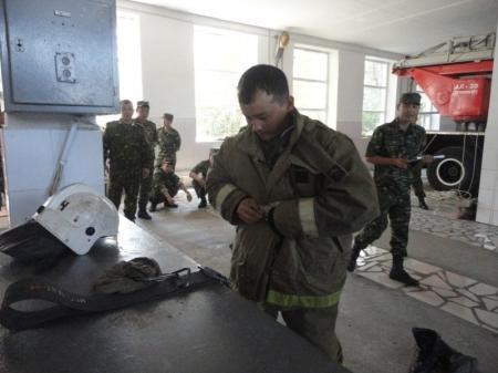 В Актау пожарные состязались в профессиональном мастерстве