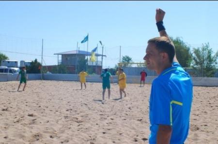 Судья международной категории расскажет жителям Актау как играть в пляжный футбол