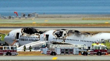 Число пострадавших при крушении самолета в Сан-Франциско возросло до 61