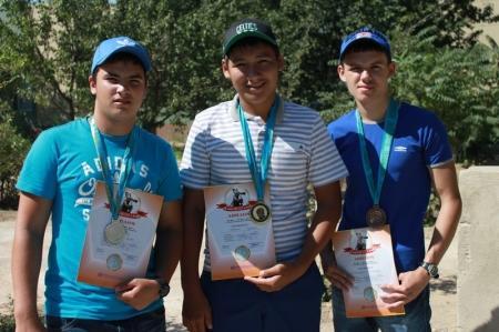 Актауские стрелки заняли весь пьедестал на международном турнире в Алматы