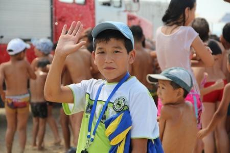 В Актау сотрудники ДЧС Мангистауской области устроили спортивное мероприятие для детей