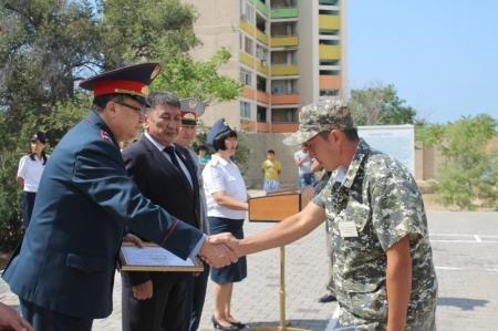 В училище МВД Актау состоялся очередной выпуск слушателей