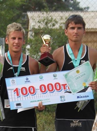 Актауские пляжные волейболисты заняли вторые места на  Открытом Кубке РК в Восточно-Казахстанской области