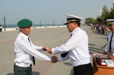 В Актау отметили 21 годовщину создания пограничных войск РК