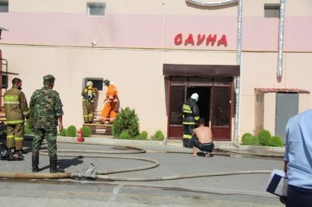 В Актау загорелась сауна