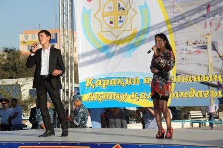 В рамках дней Каракиянского района в Актау прошел флэшмоб