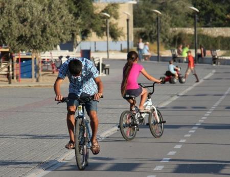 Велодорожка на набережной - зона столкновений