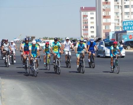 К юбилею Актау  состоялся велопробег